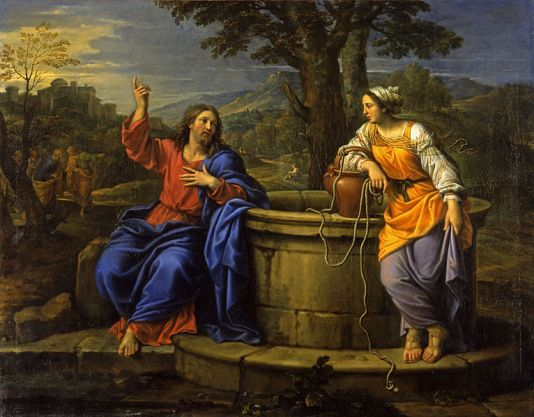 Christ and The Woman of Samaria, Pierre Mignard {{PD-1923}}